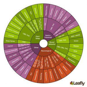 cannabinoid wheel by leafly